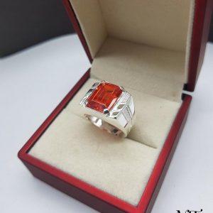 Nhẫn bạc nam mặt đá đẹp độc đáo cá tính
