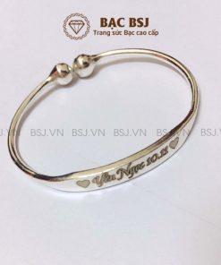 Lắc chân bạc cho trẻ sơ sinh lắc đặc dạng kiềng bạc S990