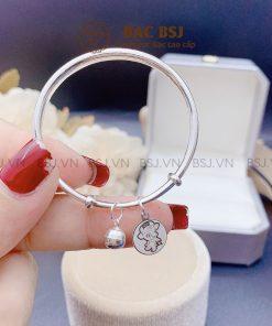 Lắc tay bạc trẻ sơ sinh bạc S990 cao cấp tốt cho sức khỏe của bé
